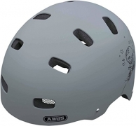 Abus Fahrradhelm Scraper Kid V.2, Grey Ride, 51-55 cm, 37277-3