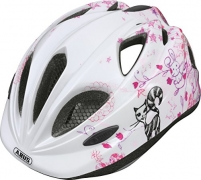 Abus Mädchen Fahrradhelm Super Chilly, Scribble Pink, 52-57 cm, 39566-6